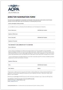 Directors Nominaton Form